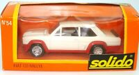 SOLIDO VINTAGE NO. 54 1/43 FIAT 131 RALLYE WHITE/RED -  MINT BOXED