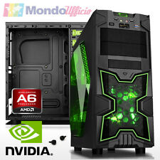 PC Computer GAMING AMD A6-6400K - Ram 8 GB - HD 1 TB - nVidia GTX 1050 - USB 3.1