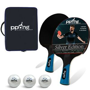 Table Tennis Set 2 Bat 3 Balls and Case Performance Ping Pong Racket Paddle Set