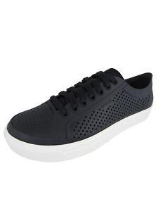Crocs Mens Citilane Roka Court Sneaker Shoes, Black/White, US 8