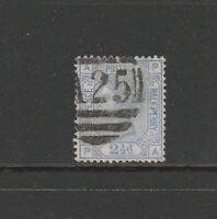 Malta, GB Used in, 1859/84 2 1/2d Blue PL 22, APPA, A25 cancel, SG Z40