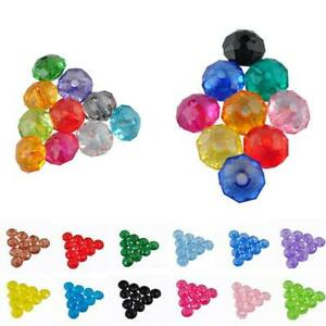Acrylic Flat bead section Spacer Bead Jewelry Making Mix Colorful Loose Beads