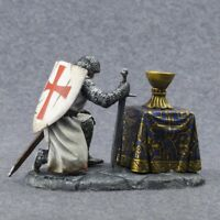 Hand Painted Medieval Knight Figure 54mm Toy soldiers 1/32 Military Infantry