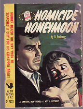 R. FENISONG - HOMICIDE HONEYMOON  pulp fiction mystery Australia Star books