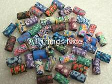 Polymer FIMO Clay 10-12mm TUBE Beads Jewellery Making Craft Spacer Findings 50