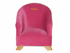 Baby Childs Chair Nursery Personalised  Gift Washable Velvet British Made