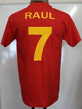 SPAIN RAUL 7 WORLD AND EUROPEAN CHAMPIONS TEE SHIRT SIZE MEN'S MEDIUM BRAND NEW