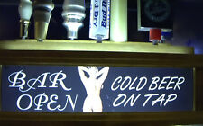 NUDE LADY ILLUMINATED beer tap handle display /Lights up your handles HOLDS 7