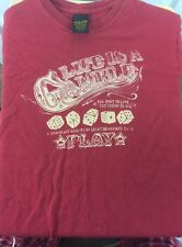 Lucky Brand Red Small T Shirt Classic Fit Life Is A Gamble