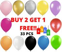 33 X Large PLAIN BALOONS BALLONS helium BALLOONS Quality Party Birthday Wedding