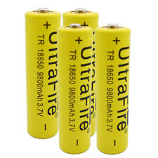 High Capacity 4x 9800mAh Rechargeable Standard 18650 Battery for LED Flashlight