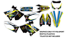 2001 - 2008 RM 125 / 250 Polisport restyle GRAPHICS KIT DECAL MOTOCROSS GRAPHIC