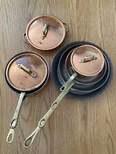 More details for vintage copper pan set