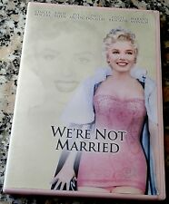 WE'RE NOT MARRIED 1952 RARE Pink Case 2004 DVD Marilyn Monroe Ginger Rogers
