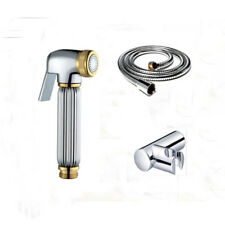 Toilet Diaper Brass Gold+Chrome Handheld Sprayer Spray Shower Bidet Shattaf Set