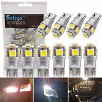 Safego Neueste 10x T10 LED Glühbirne 194 168 6000K Weiß Super Bright 5-SMD 5050