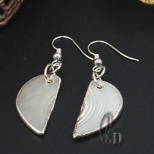 AU SELLER Lovely Handmade Mother Of Pearl Silver Earrings 05049