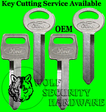 Lot of 4 Ford Logo OEM Ignition Door H51 Trunk H50 Key Blank Square Round Head