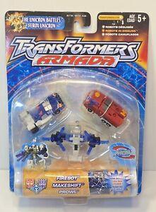 Transformers Armada Firebot Makeshift And Prowl Moc Sealed New Unicorn Battles