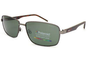 POLAROID Polarized Sunglasses Matte Ruthenium / Grey Green PLD2041 VXT