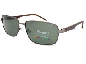 POLAROID Polarized Sunglasses Matte Ruthenium / Grey Green PLD2041 VXT
