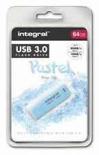 Integral 64GB Blue Sky Pastel USB 3.0 Flash Drive. INFD64GBPASBLS3.0