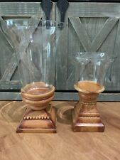 Southern Living at Home Kensington Large & Medium Hurricane Candle Holders