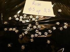 lot de 50 perle en métal couleur argent forme rose fleur intercalaire perle