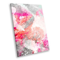 AB306 Red Blue Geometric Modern Abstract Canvas Wall Art Large Picture Prints