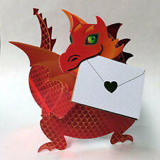 """3D Special Delivery Greeting Card - Dragon """"Flame"""" - SD-131"""