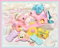 ❤️My Little Pony MLP G1 Vtg Newborn Baby Twins Sticky & Sniffles COMPLETE❤️