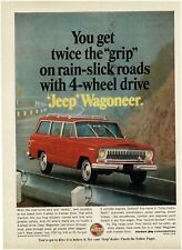 1966 JEEP Wagoneer Red Station Wagon VTG PRINT AD