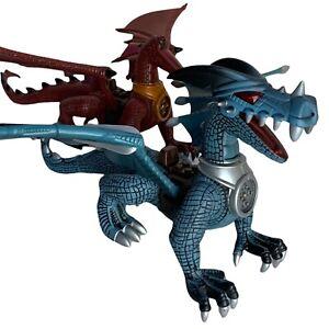 2x Mega Bloks Dragon Figures Krystal Wars - One Incomplete