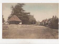 Capel Lych Gate & Street Surrey Vintage Postcard 374b