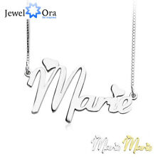 Personalized Any Name Necklace with Two Hearts Brass Pendant Necklaces Box Chain