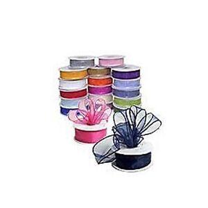 5/8 In 25YD Sheer Organza Ribbon All Colors