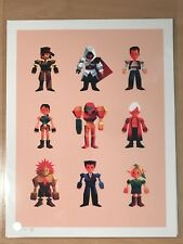 OLLY MOSS Heroes 97 Giclee Zelda Metroid Metal Gear Tomb Raider NOT MONDO SDCC