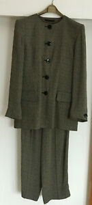 Jaeger Vintage Two Piece Ladies Trouser Suit - Single Breasted UK Size 10