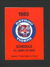 Detroit Tigers--1985 Pocket Schedule--Honeybaked Ham