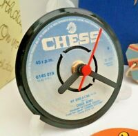 *new* CHUCK BERRY  - RECORD CLOCK actual VINYL RECORD CENTRE Desk / Side Table