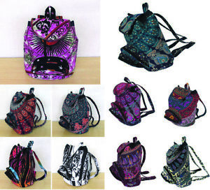 New Indian Handmade Cotton Backpack Hippie Mandala Unisex Men Women Fashion Bags