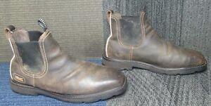 Mens ARIAT Groundbreaker Chelsea Waterproof Steel Toe Work Boots 12 EE