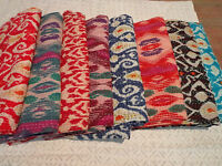 Indian Handmade Quilt Vintage Kantha Bedspread Throw Cotton Blanket Gudri a3