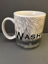 2002 STARBUCKS COFFEE WASHINGTON DC SKYLINE SERIES ONE BARISTA 18 OZ MUG CUP