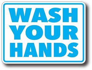 Wash Your Hands Anti Virus Influenza Flu Public Health Decal Sticker