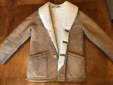 Vintage ROOS/ATKINS from FRANCE Lambskin Leather Suede Fur Shearling Jacket Coat
