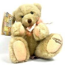 Vintage Dakin Cherished Teddies 1994 Plush Bear Samantha Tan Patches Bow Enesco