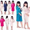 GX- Kid Silk Satin Robes Bathrobe Sleepwear Wedding Flower Girl Night Dress Prop