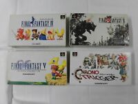 X4709 Super Famicom Final Fantasy IV V VI Chrono Trigger set FF SFC SNES w/box