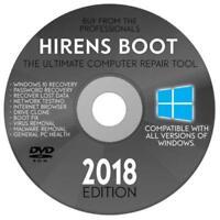 Hiren's PE Boot DVD 2019 PC Repair Virus Removal Clone Recovery Password Fix